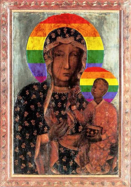 tęczowa Madonna