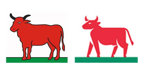ciołek z herbu i logo