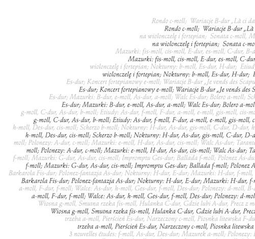 Fryderyk Chopin spis utworów - fragment