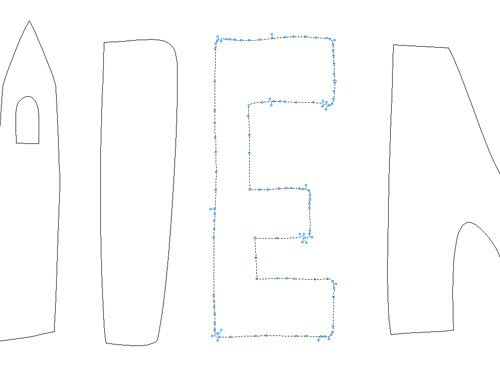 117 węzłów w literze E