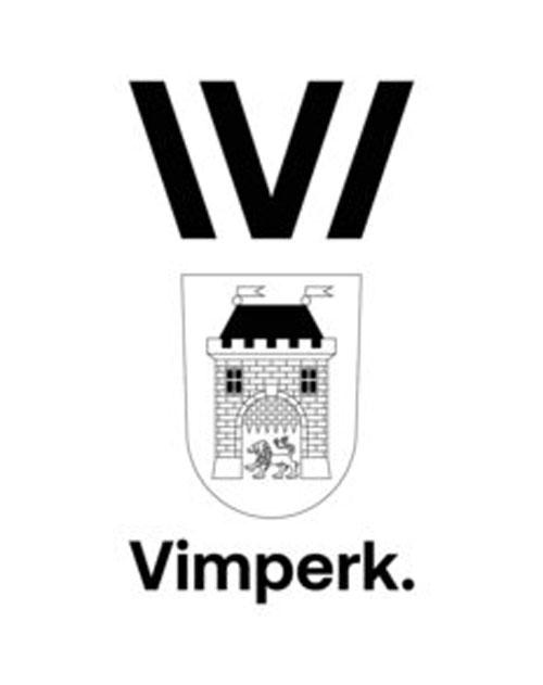 miasto Vimperk połączenie herbu i logo