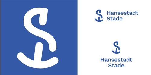 nowe logo miasta Stade, Niemcy