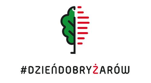 Żarów nowe logo, wersja z hasztagiem