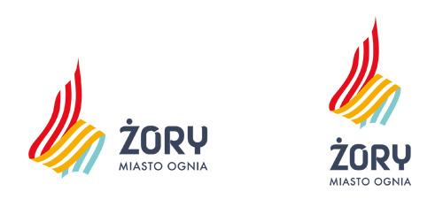 Żory nowe logo z hasłem